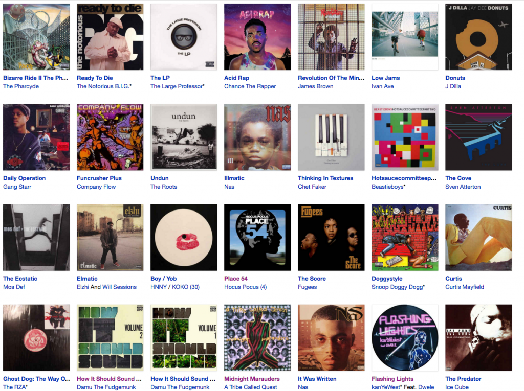 Discogs Coverwand